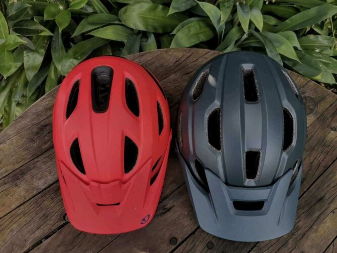 Helmet with GoPro and without